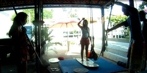 stand up paddle lesson pipa